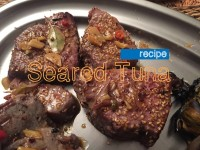 Sesame Crusted Seared Tuna with Spicy Soy Sauce