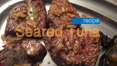 Sesame Seed Crusted Seared Tuna with Asian Spicy Soy Sauce Recipe