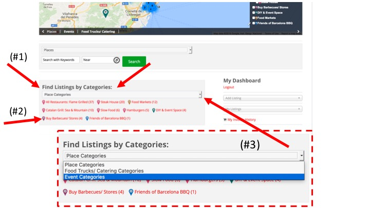 Find Listings by Category box